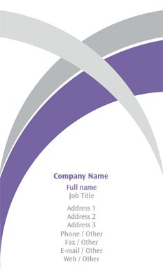 Purple and Grey Lines Business Card Template